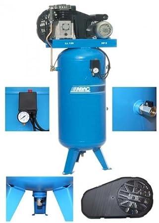Compresor de aire de presión ABAC B3800-150 imberi 230 V - 3 PS kompres: Amazon.es: Bricolaje y herramientas