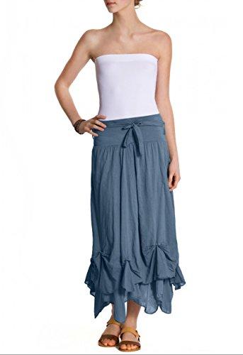 Jupe Bleu Jeans femme longue pour RO003 CASPAR BUnwAA