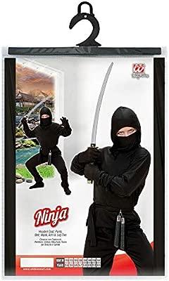 WIDMANN - Disfraz de Ninja para niños, 128 cm (W0264-S)