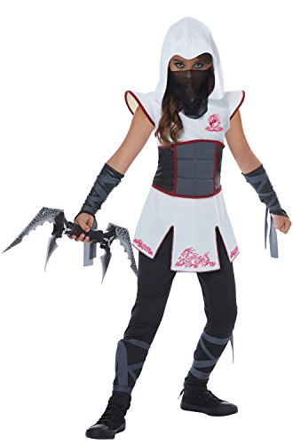 [Fearless White Ninja Girl Kids Costume] (White Ninja Costumes For Kids)