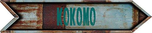 Any and All Graphics Kokomo City Vintage Rustic look Arrow shaped 8