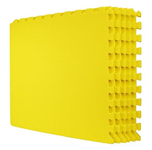 Wacces 24 x 24 inch Multi-Purpose Puzzle EVA Floor Interlocking Foam Exercise Mat Tiles - - Store Wcs
