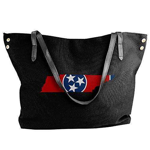 Handbag Tote Tote Shoulder Large Black Women's Tennessee Canvas Hobo Bag Handbag Map IZqpnwOvS