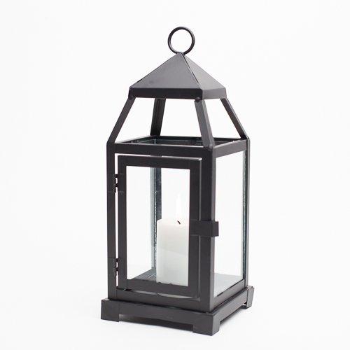 Richland Small Contemporary Metal Lantern Black Set of 6
