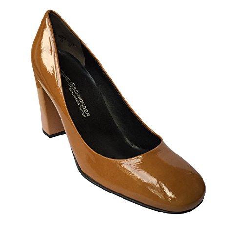 Kennel & Schmenger - Zapatos de tacón mujer Mustard Patent
