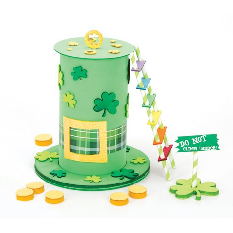 Foamies St. Patrick's Day Leprechaun Trap Catcher Foam Craft Kit]()