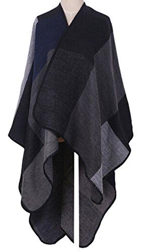 VamJump Women Winter Cashmere Oversized Blanket Po…