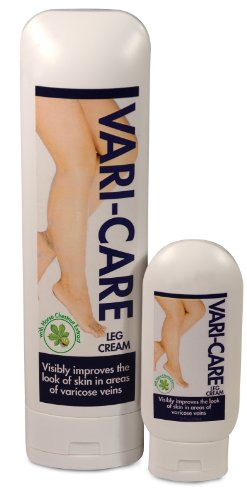 Vari-Care Leg Cream. The Best Leg Cream for Varicose Veins. Improve the Appearance of Your Skin & Reduce the Appearance of Varicose Veins with Vitamin K, Aloe Vera, Horse Chestnut Extract, and Emu Oils – 9oz. with 2oz travel size!
