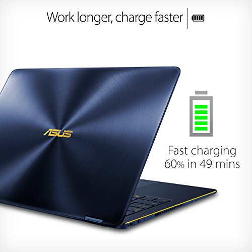 "ASUS ZenBook Flip S Touchscreen Convertible Laptop, 13.3"" Full HD, 8th Gen Intel Core i7 Processor, 16GB DDR3, 512GB SSD, Backlit KB, Fingerprint, Windows 10 Pro - UX370UA-XH74T-BL, Royal Blue"