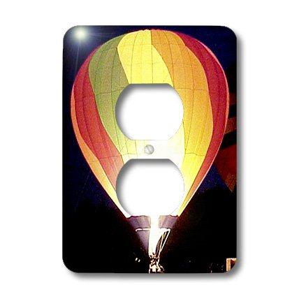 3dRose LLC lsp_622_6 Colorful Air Balloon 2 Plug Outlet Cover