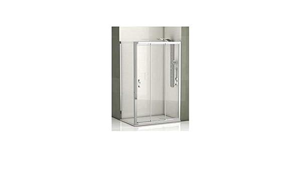 CV - Mampara de ducha angular de 130cm con cristal fijo de 70 cm: Amazon.es: Bricolaje y herramientas