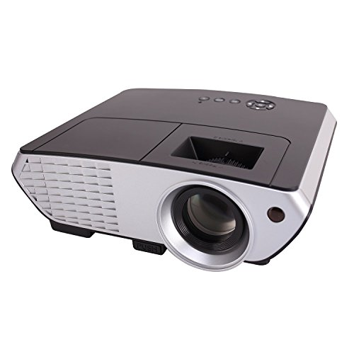 Projector xinda lcd 1200 lumens mini multi media portable for Mirror mini projector