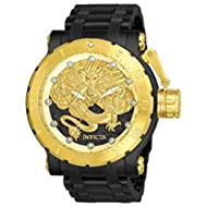 Men's 26513 Coalition Forces Automatic 3 Hand Black, Gold Dial Watch