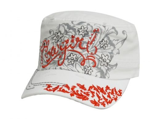 - Military Cadet Style Hat with Script