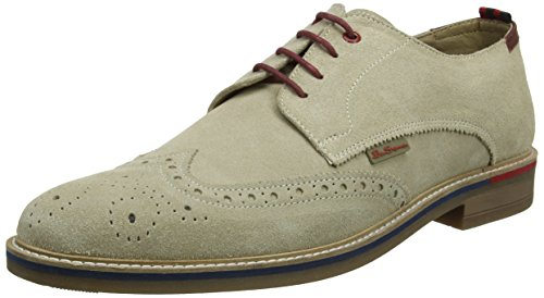 015 Zapatos Sherman Sand Hombre Beige Suede Luck Brogue de Ben para Cordones qERPwdEzU