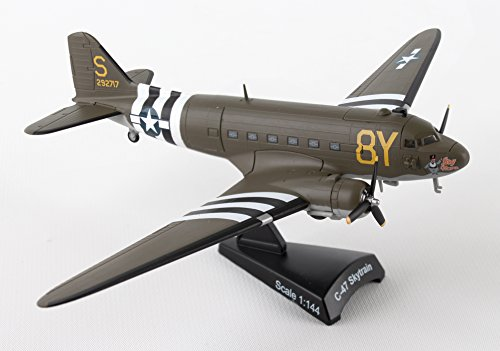 "Daron Worldwide Trading Postage Stamp C-47 DC-3 ""Stoy Hora"" USAAF Vehicle (1/144 Scale)"
