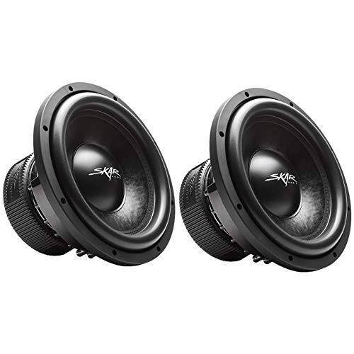 (2) Skar Audio VVX-12v3 D2 12″ 1200W Max Power Dual 2 Subwoofer