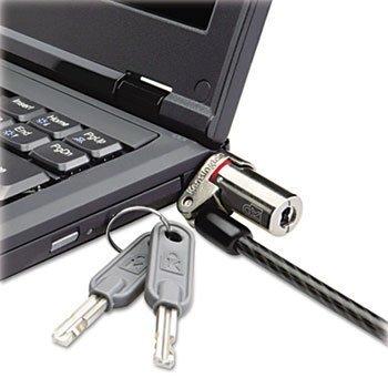 Kensington 64590 Microsaver DS Ultra-Thin Laptop Lock, Silver, Two Keys
