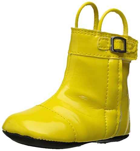 Robeez Girls' Puddle Jumper Rainboot Boot, Puddle Jumper Yellow, 9-12 Months M US Infant (Shoes Kids Puddle Jumpers)