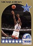 Michael Jordan basketball card (Chicago Bulls) 1990 Hoops #5 All Star