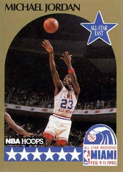 99e3e240245 Michael Jordan basketball card (Chicago Bulls) 1990 Hoops  5 All Star