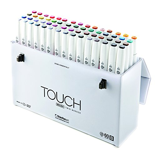 ShinHan TOUCH TWIN Brush Marker 60 Color Set B by TOUCH (Image #7)