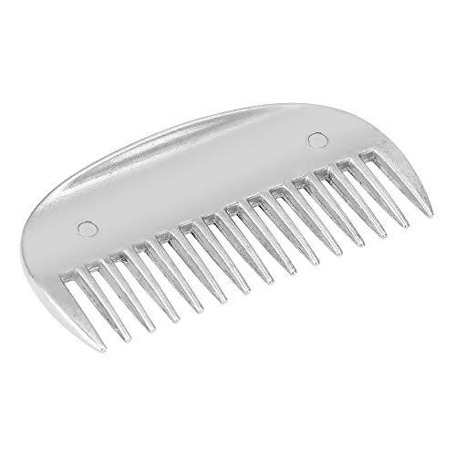 Lixada Aluminum Alloy Horse Comb Mane Tail Pulling Comb Metal Horse Grooming Tool (8.2cm)