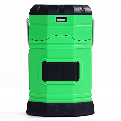 Kottle Multi-purpose Camping Lantern, Solar Rechargeable LED Lamp Flashlight, Perfect for Indoor & Outdoor, Super...