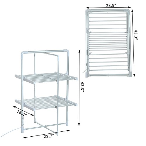 Sharndy Etw84 4 Electric Towel Warmers Dryer Rack Wall: MAYKKE Arrabelle 100W Electric Laundry Clothes Drying Rack