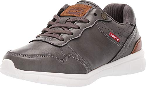 Levi's¿ Kids Baby Boy's Colby Burnish (Toddler/Little Kid/Big Kid) Charcoal 1 M US Little Kid (Infant Boys Levi Shoes)