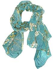 CFAUIRY Women Scarf Scarves Van Gogh Painting Fashion Soft Lightweight Long Large Wrap Shawls