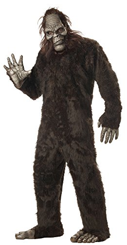 Halloween Sasquatch Costume (California Costumes Men's Plus-Size Big Foot Suit Costume In Plus, Dark Brown, Plus Size)