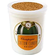 Champagne Gourmet Flavored Cotton Candy – Unique Idea for Holidays, Birthdays, Gag Gifts, Party Favors