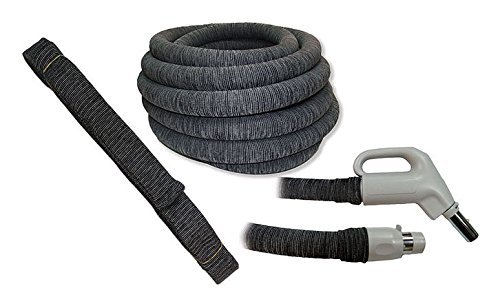 Soc It 35FT - KNITTED CENTRAL VACUUM HOSE COVER WITH INSTALLATION TUBE - CHARCOAL GREY Soc It Central Vacuum