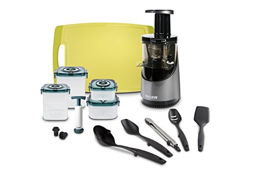 NuWave 27051 Slow juicer and Accessories, Silver