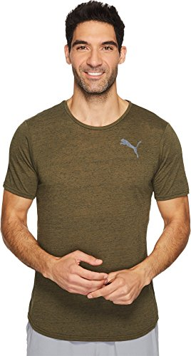 PUMA  Men's Dri-Release Novelty Tee Olive Night Heather T-Shirt (Release Shirt Dri T)