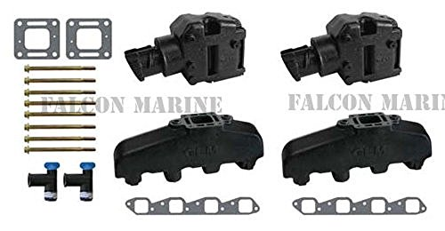 Mercruiser Exhaust Manifold Elbow (Mercruiser 330 340 MIE Chevy Marine 454 7.4 7.4L GLM Exhaust Manifolds+4