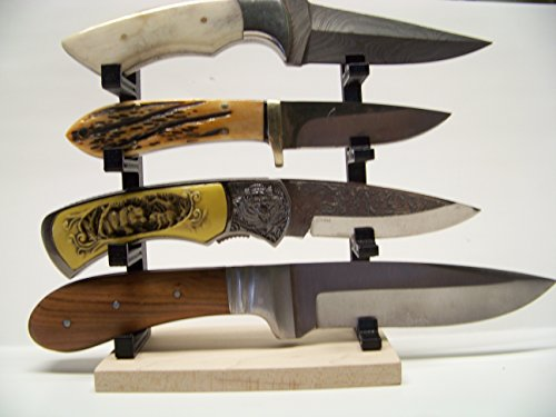 Knife Display Stand Knife Rack Fixed or Folding Blade Medium Knives
