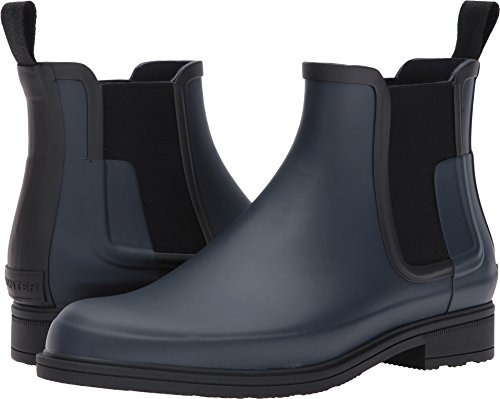 Jägare Stövlar Mens Ursprungliga Raffinerade Gummi Chelsea Boots Marin / Svart