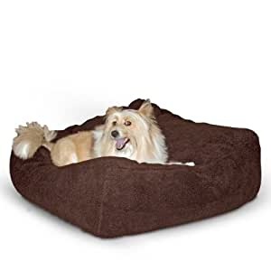 K&H Cuddle Cube Pet Bed, Medium 28-Inch by 28-Inch, Mocha