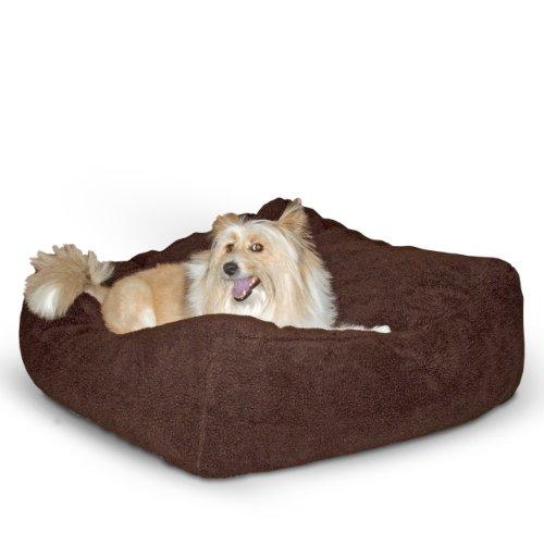 - K&H Pet Products Cuddle Cube Pet Bed Medium Mocha 28