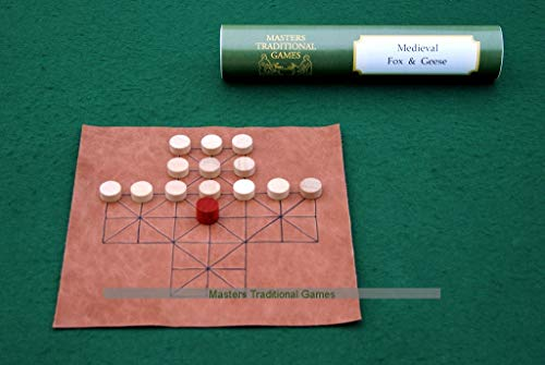 Masters Traditional Games Fox and Geese - Medieval Leather Board