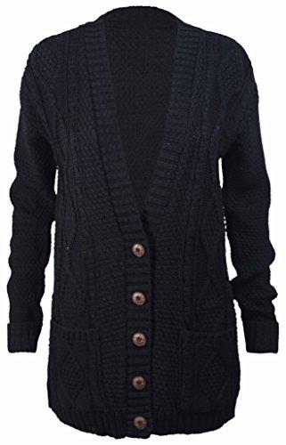 PurpleHanger Women's Knit Sweater Cardigan Top Plus Size Black 20-22