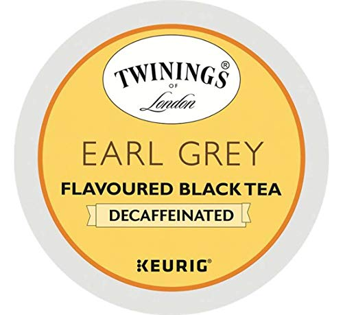 Keurig Tea and Ice Tea Pods K-Cups 18/22 / 24 Count Capsules ALL BRANDS/FLAVORS (Twinings/Chai/Celestial/Lipton/Tazo/Diet Snapple) (24 Pods Earl Grey Decaf Tea) -  Globalpixels