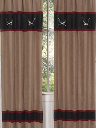 (Sweet Jojo Designs 2-Piece Treasure Cove Pirate Window Treatment Panels)