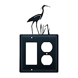 Village Wrought Iron Ego-133 Single Gfi & Outlet - Heron