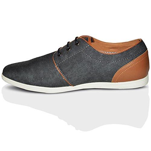 Xelay - Zapatos Planos con Cordones hombre Black 2 Tone