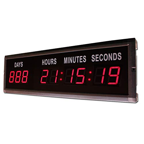 Amazon.com: Hanchen 1.8 Red LED Countdown Clock LED Digital Timer LED Countdown Wall Cloc for Indoor Use Countdown Count up Days: Home & Kitchen