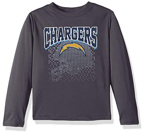 NFL Los Angeles Chargers Male Long sleeve Team Logo Tee, Gray, 3T
