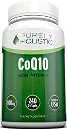 CoQ10 240 SoftGels - 100% MONEY BACK GUARANTEE - High Absorption Coenzyme Q10 -Made in the USA to GMP Standards – Up To 8 Months Co Q 10 Supply